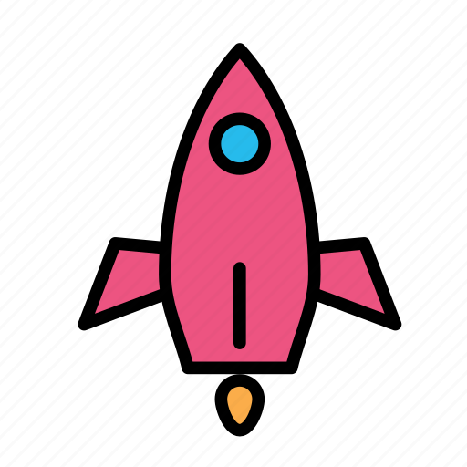 rocket, space, travel icon