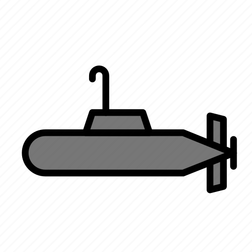 army, submarine, undersea icon