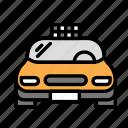 city, driver, taxi icon