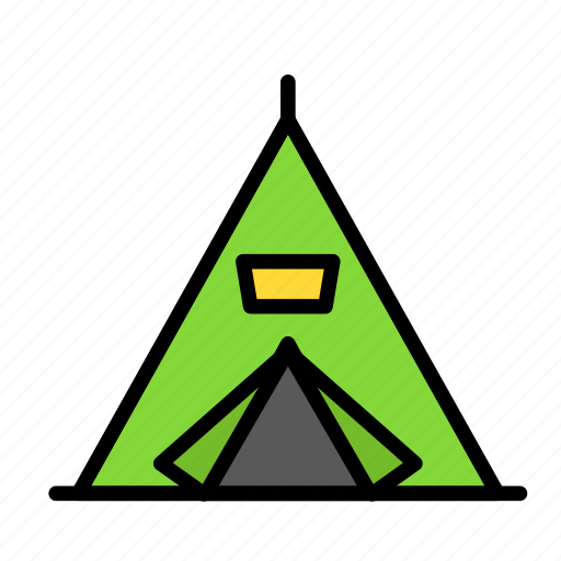 indian, tent, trip icon