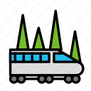 distance, train, travel, trip icon