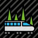 distance, train, travel, trip