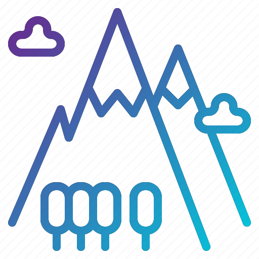 adventure, camping, mountain, nature, peak icon