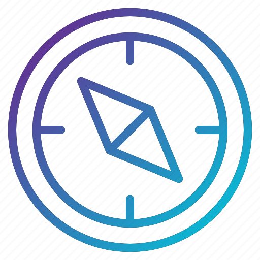 compass, journey, orientation, survival icon