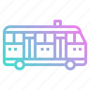 automobile, bus, public, school, transport, vehicle icon