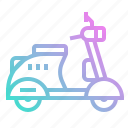 bike, motorbike, motorcycle, scooter, transport, vespa icon