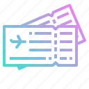 air, airplane, flight, plane, ticket, travel icon