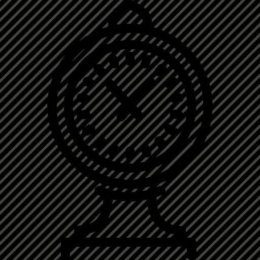 clock, journey, landmark, travel icon