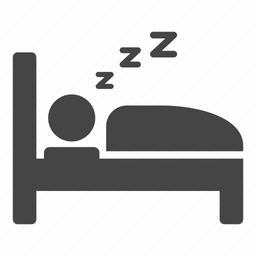 bed, bedding, dream, hotel, night, rest, sleep, sleeping icon