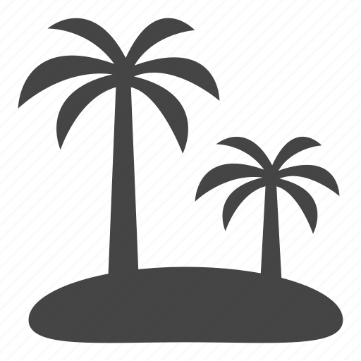 coconut, forest, island, landscape, palm, trees icon
