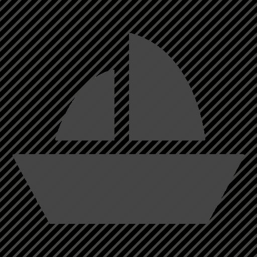 ocean, sail boat, sailboat, ship, travel, yacht icon