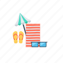 beach, island, seashore, summer beach, vacation on beach icon