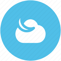 cloud, moon, night, night time, puffy cloud, weather icon