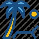 beach, palm tree, sun, sun tanning, sunbathe, tanning