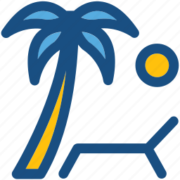 beach, palm tree, sun, sun tanning, sunbathe, tanning icon