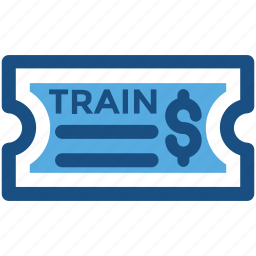 ticket, tourism, train ticket, travel ticket, travelling pass icon