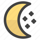 explore, moon, star, tour, tourism, travel, trip icon
