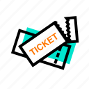ticket, travel, travelling, trip icon