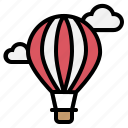 air, balloon, fly, hot, parachute icon