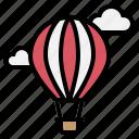 air, balloon, fly, hot, parachute