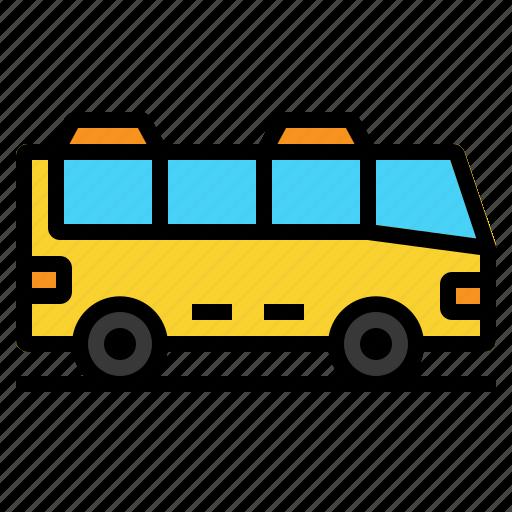 bus, school, transport, travel, vehicle icon