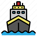 boat, cruise, sea, ship, travel icon