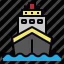 boat, cruise, sea, ship, travel
