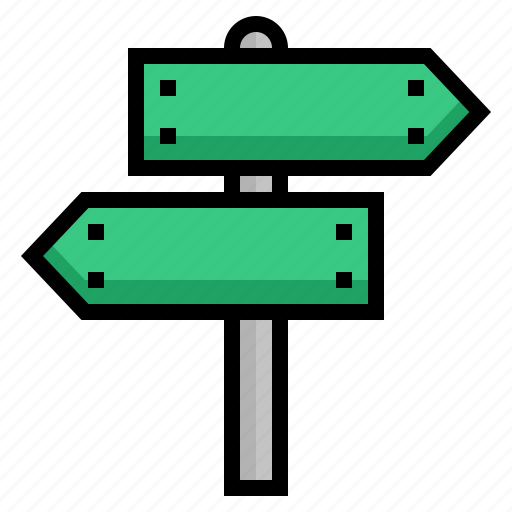 direction, post, road, sign, signpost icon