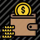 cash, coins, money, purse, wallet