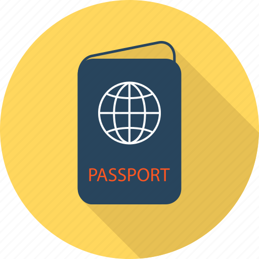 luggage, passport, travel, visa icon