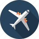 air, planes, sky, travel icon