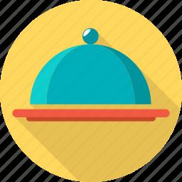 hotel, restaurant, serving tray, travel icon