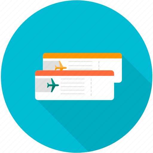 airline tickets, delivery, plane, ticket, transportation, travel icon