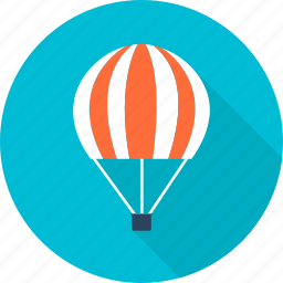 air, balloon, fly up, plane, travel, vacation, watch icon