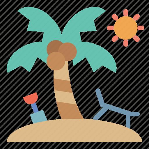Beach, holiday, sun, umbrella, vacation icon - Download on Iconfinder