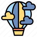 air, balloon, flight, fly, hot, travel, trip icon