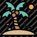 beach, holiday, sun, umbrella, vacation icon