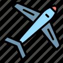 air, airplane, plane, shape, transportation icon