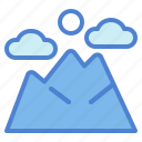 landscape, mountain, nature, travel icon