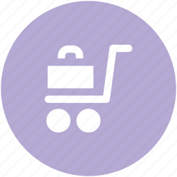hand trolley, hand truck, hotel trolley, luggage trolley, platform truck, trolley icon