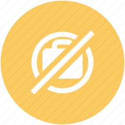 bag not allowed, luggage restriction, no bag, no luggage, no suitcase icon