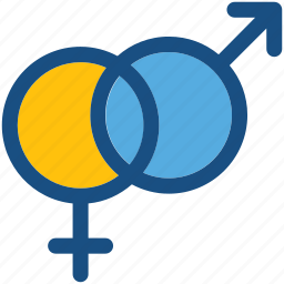 female gender, gender symbol, genders, male gender, sex symbol icon