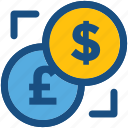 currency exchange, dollar, foreign exchange, money exchange, pound