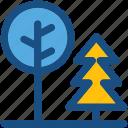 forest, pine tree, shrub tree, trees, yard trees