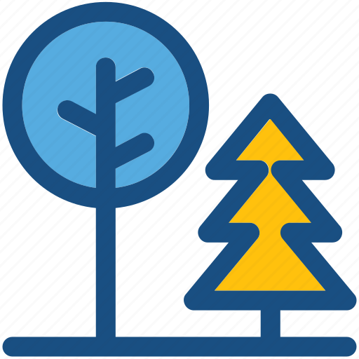 forest, pine tree, shrub tree, trees, yard trees icon