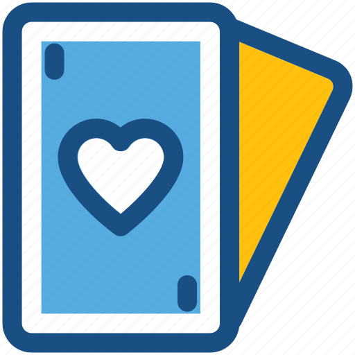 ace of heart, casino, heart card, playing card, suit card icon