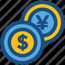cash, currency, dollar, money, yen
