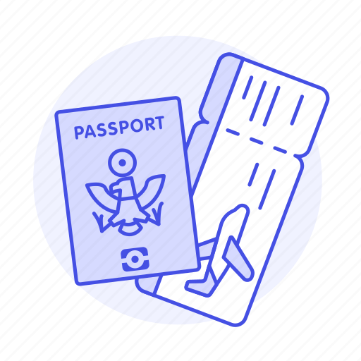 Abroad, airplane, flight, international, journey, overseas, passport icon - Download on Iconfinder