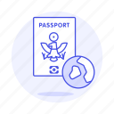 1, abroad, close, globe, international, journey, overseas, passport, travel, trip icon