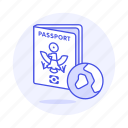 2, abroad, close, globe, international, journey, overseas, passport, travel, trip icon